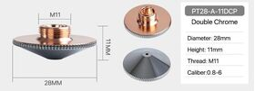 Сопло Precitec PT28-A-11DCP 1,2 mm