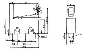 Концевой датчик механический MSW-13