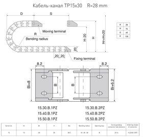 Кабель-канал TP15x30 R28