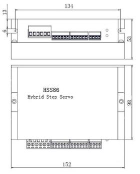 Комплект шагового двигателя  с энкодером 86HSE8N-BC38